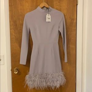 Lavender feather missguided dress